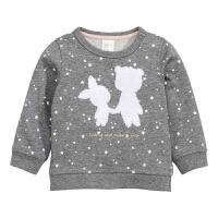 婴童装卫衣女宝宝上衣女童卡通加绒春秋外套 货0-2岁