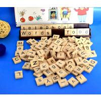 英语拼单词英文游戏卡片学习小学幼儿早教26个字母大小写自然拼读