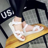 儿童平底凉鞋9-11-13-15岁中大童花朵公主鞋夏季韩版女童鞋沙滩鞋SN0894