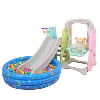 20180521224136623儿童滑梯室内幼儿园宝宝玩具家用加厚加长塑料小孩滑滑梯秋千组合