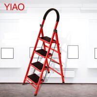0727193245466梯子家用折叠梯加厚室内人字梯移动楼梯伸缩梯步梯多功能扶梯