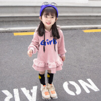 女宝宝长袖卫衣裙子秋冬季1一3岁女童连衣裙加绒加厚时尚洋气公主