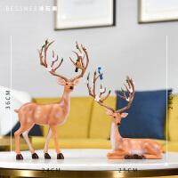 酒柜家居装饰品摆件欧式招财鹿创意客厅卧室小摆设工艺品结婚礼物