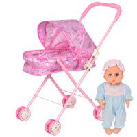 玩具手推车带娃娃铁架可折叠婴儿宝宝过家家学步车小推车助步