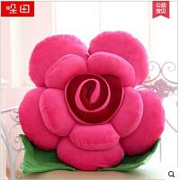 毛绒玩具玫瑰花抱枕布娃娃沙发车饰靠垫创意生日婚庆压床礼物女生大号