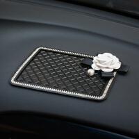汽车防滑垫 镶钻车载仪表台耐高温手机防滑贴 车用摆件香水置物垫