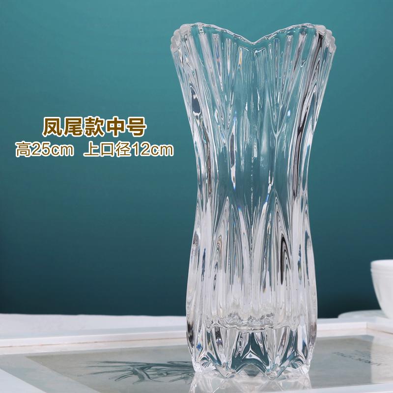 透明玻璃花瓶大号富贵竹百合水培花器客厅摆件插花水晶玫瑰花瓶 21-凤尾款中号25cm 发货周期:一般在付款后2-90天左右发货,具体发货时间请以与客服协商的时间为准