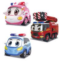 警车联盟电动玩具车遥控汽车儿童男孩大车套装救护车 抖音 官方标配