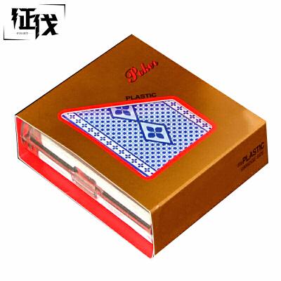 征伐  塑料扑克牌 双面磨砂德州扑克一副装纸牌多色可选防水桥牌棋牌麻将桌游游戏支持礼品卡!