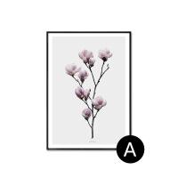 北欧客厅装饰画现代简约餐厅画卧室床头壁画黑白植物花卉书房挂画