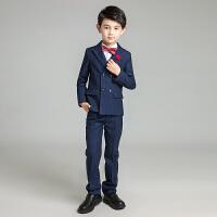 儿童小西服套装五件套男童中大童韩版礼服西装宝宝钢琴演出服冬季