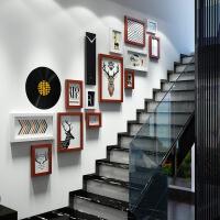 楼梯墙面装饰画相片墙创意挂墙相框组合照片墙相框墙