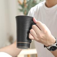 白领公社 陶瓷杯 创意简约可爱卡通办公室杯闺蜜马克杯牛奶咖啡杯带盖勺家用大容量水杯水具