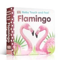 【全店300减100】英文原版 纸板书Baby Touch and Feel Flamingo火烈鸟幼儿宝宝启蒙触摸书亲