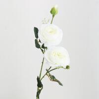 家居单支仿真玫瑰花束茶花落地花假花绢布客厅装饰花绢花餐桌摆件花艺