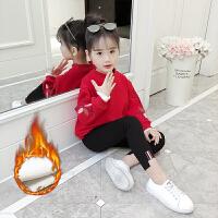 女童打底衫秋冬装2018新款韩版儿童3岁冬季加绒T恤洋气女孩上衣潮