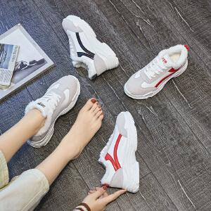 2018冬季新款韩版运动鞋ulzzang休闲鞋网红平底跑步老爹鞋女鞋子