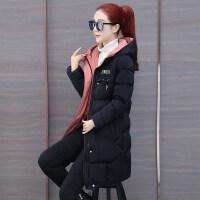 羽绒女中长款冬装新款韩版连帽加厚棉袄衣服外套冬季棉衣