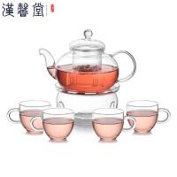 汉馨堂 玻璃茶具套装 过滤花茶壶功夫茶具套组创意礼品送客户节日礼品