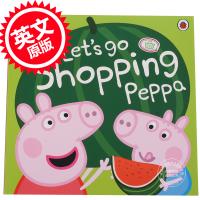 [现货]小猪佩奇 粉红猪小妹 英文原版 Let's Go Shopping Peppa 和佩奇一起去购物 3-6岁宝宝