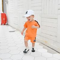 婴儿夏季0一3岁男宝宝衣服6-个月新生幼儿纯棉薄款两件套装