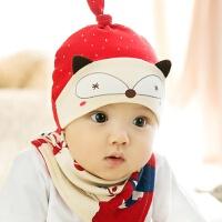婴儿帽子0-3-6-12个月春秋男女宝宝帽新生儿帽子胎帽秋冬1岁 均码