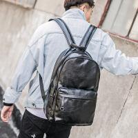 大容量男士户外旅行背包男新款韩版简约双肩包潮流皮质街头双肩包