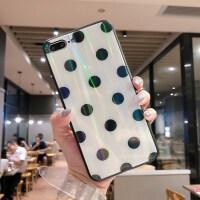 气质镭射苹果6s手机壳炫光彩钢化玻璃iPhone7 plus软边全包镜面8p/X六七八挂绳简约潮趣味 苹果6plus/
