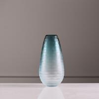 现代家居简约客厅摆件艺术色料水波纹玻璃花瓶美式插花干花水培
