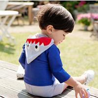 儿童男童宝宝中小童速干泳装防晒分体鲨鱼泳装夏天游泳衣