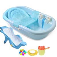 宝宝感温浴盆婴儿洗澡盆可坐躺通用大号加厚儿童沐浴桶新生儿用品