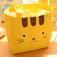便当盒带饭包帆布保温袋子饭盒包手提包防水女包手拎便当包饭盒袋