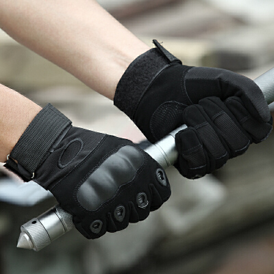 户外军迷用品作战训练防割战术手套全指作训手套骑行防滑男  均码 升级版战术手套 品质保证