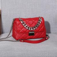 韩版皮小香风包包菱格包包女链条包百搭单肩斜挎包手提包小包包