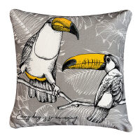 大嘴鸟美式简约抱枕防水靠枕沙发靠垫办公室椅子靠背床头腰枕