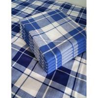 学生床上用品蓝白格子床单蓝色被罩学校宿舍床单被套床上用品 蓝白格-涤棉