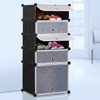 思故轩 简易鞋柜防尘鞋架组装组合多层树脂简约现代大容量塑料收纳柜靴子柜