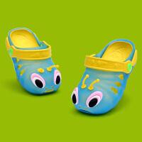 夏季毛毛虫儿童拖鞋男女童凉拖鞋 小孩软底凉鞋宝宝沙滩洞洞鞋潮