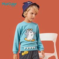 【1件2折】巴拉巴拉旗下MarColor马卡乐春新品男童时尚版型卡通印花卫衣