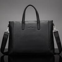 男包手提包横款真皮包电脑包男士公文包男大皮包
