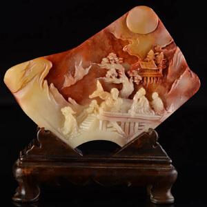 寿山 芙蓉石《指日高升》天然寿山石全手工精雕 寓意吉祥