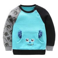 Disney迪士尼 4-14岁 男童圆领套头卡通卫衣KMN6F1KTBB0111