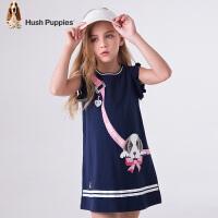 【3件3折:98.7元】暇步士童装夏季新款女童连衣裙时尚可爱创意印花连衣裙儿童连衣裙