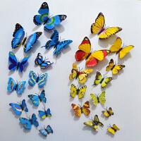 新品仿真蝴蝶假蝴蝶墙贴 发饰 装饰塑料蝴蝶立体 冰箱贴磁贴 中