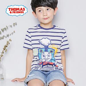 【促】托马斯童装男童夏装2018夏季新品短袖条纹T恤