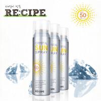 RE:CIPE韩国水晶防晒喷雾SPF50 透明防晒霜PA+++ 150ml