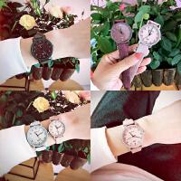 韩版复古风纯色简约百搭学生文艺气质男女手表皮带休闲小表盘手表