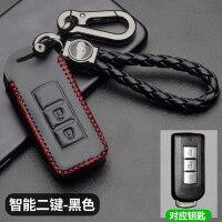 广汽三菱欧蓝德钥匙包2018款翼神帕杰罗劲炫ASX车真皮钥匙套 汽车用品