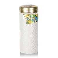 乾唐轩活瓷杯金枝玉叶随身杯木纹盖 陶瓷杯水杯 杯子带盖情侣礼物