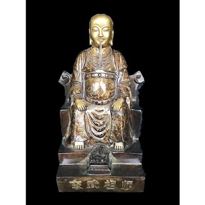 玄武祖师铜像
